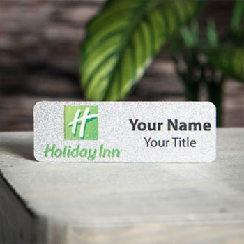 "Custom 1"" x 3"" Rectangle Name Badges"
