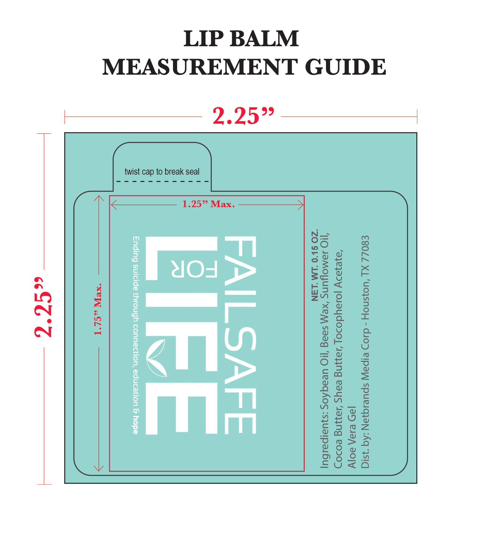 Lip Balm Label Measurement Guide
