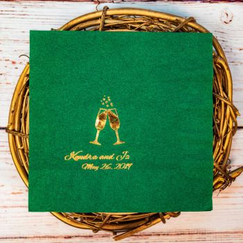 Foil Stamped Luncheon Napkins