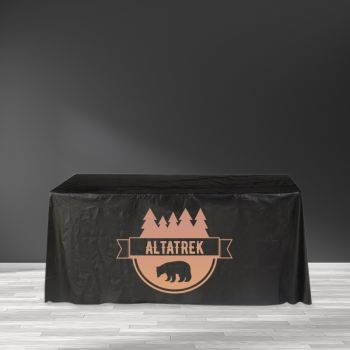 "Recyclable Plastic Table Cover - 65"" x 132"""