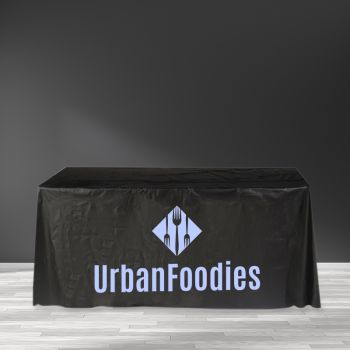 "Recyclable Plastic Table Cover - 65"" x 156"""