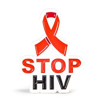 Stop HIV Stock Lapel Pins