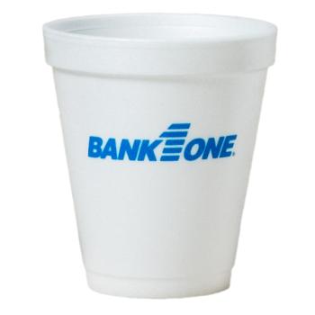 Tall White Styrofoam Coffee Cup - 8 oz