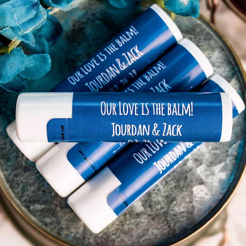 Custom Wedding Lip Balms - Custom Made Wedding Favors - Personalied Wedding Favor