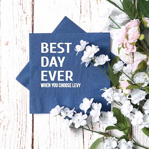 Custom Wedding Napkins - Custom Wedding Party Favors - Wedding Party Favors Personalized